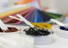 Farbmischung im merz+benteli Labor